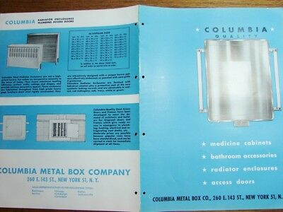 1945 COLUMBIA METAL BOX CO Medicine Cabinet BATHROOM Accessories Vintage Catalog