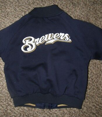 Boy's Brewers Jacket Size 5-6 Reversible Excellent Condition Heavier Weight