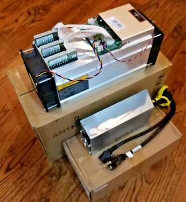 NO RESERVE Bitmain AntMiner S9 w/PSU w/Pwr cable USA IN HAND