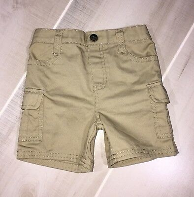 Kenneth Cole Reaction Khaki Shorts Baby 6-9 Month Boy Never Worn!