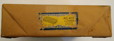"Bud AC-413 Aluminum Chassis Vintage NOS 12""x10""x2"""