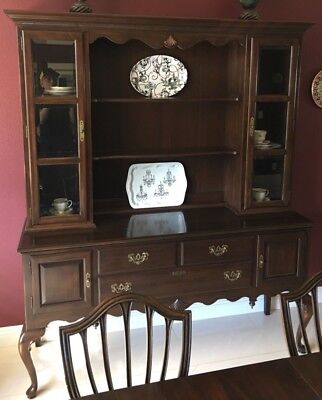 Ethan Allen Georgian Court Cherry Chippendale Buffet Sideboard