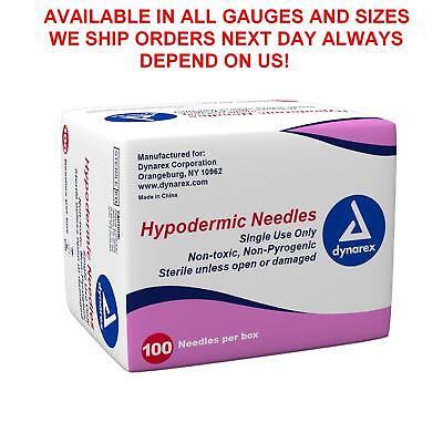 "Dynarex Hypodermic Needles Box of 100, 27 G X 1/2""--Depend On Us!"