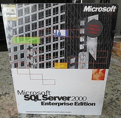 NEW Microsoft SQL Server Enterprise 2000 Edition inc 1 CPU Processor 810-00963