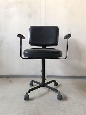 VINTAGE RETRO MID CENTURY 60s 70s OFFICE WORKPLACE CHAIR VINYL UPHOLSTERY