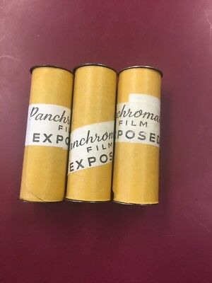Vintage Panchromatic 620 Exposed Film Rolls Mystery Photography