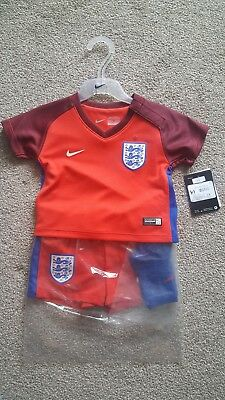 England Football Kit 3-6  month baby