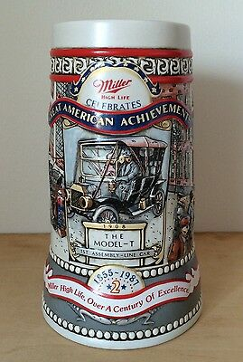 Miller High Life Celebrates Great American Achievements Stein, The Model T 1989