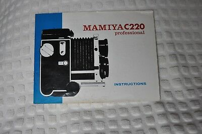 Mamiya C220 Camera Instruction Manual / User Guide w/depth of field table