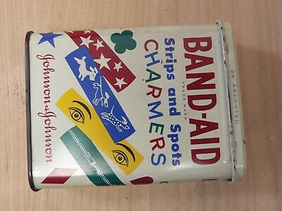 Vintage Johnson & Johnson BAND-AID Tin  CHARMERS Rare Children's Strips and Spot