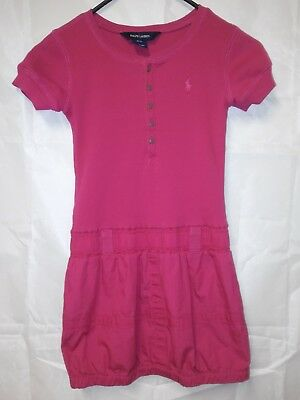 Polo Ralph Lauren girls dress Sz 7 Pink MSRP $65