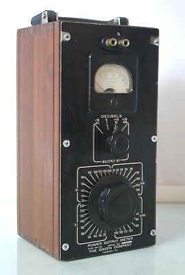 Antique Military Decibels  Power Power Meter The Daven Company