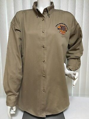 Houston Livestock Show Rodeo 75th Anniversary Women's Blouse 2XL Blue Generation