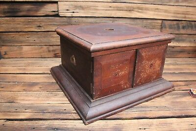 Vintage HMV Gramophone Timber Box Case Wooden Part Table Top