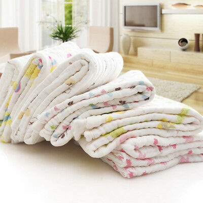 Muslin Newborn Baby Blanket Bedding Blanket Wrap Swaddle Blanket Bath Towel