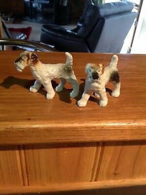 ~~ Lovely Small Airdale Terrier China Statues~~~~