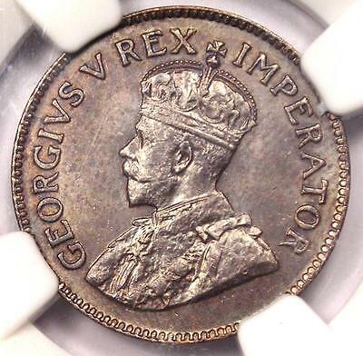 1923 South Africa George V 1/4 Penny 1/4P - NGC MS65 - Rare Gem BU UNC Coin