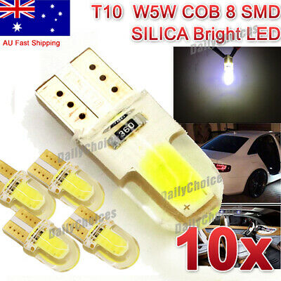 10x T10 COB SHELL SILICONE WHITE LED SILICA GEL W5W CAR PARKER WEDGE LIGHT BULB
