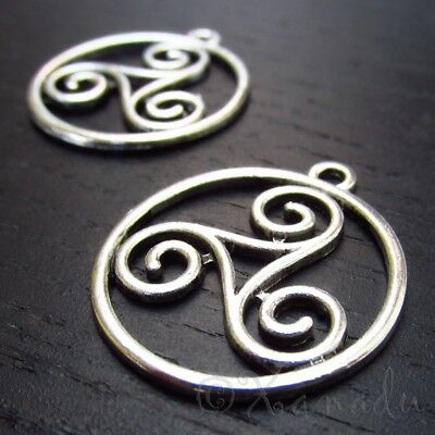 Celtic Knot 23mm Antiqued Silver Plated Charm Pendants C5460-5 10 or 20PCs