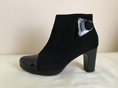 ANKLE BOOTS Black Leather GABOR Size 71/2 - 8