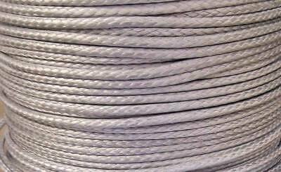 4mm X 10M Silver Dyneema® Fiber Synthetic Winch/ yacht rope tensile:1900kg - NEW