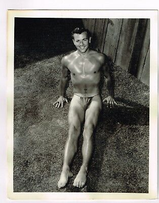 """Gay Interest - Vintage - Male Physique Photograph  BRUCE OF LOS ANGELES - 4 X 5"""""""