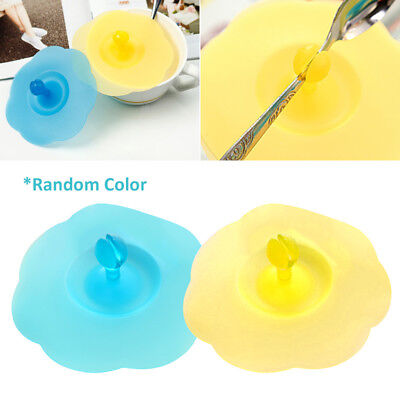 Silicone Leakproof Anti-dust Glass Cup Cover Coffee Tea Mug Suction Seal Lid Cap