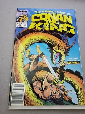 CONAN THE KING #55, Final Issue, Marvel comics 1989 Vintage Comic Book