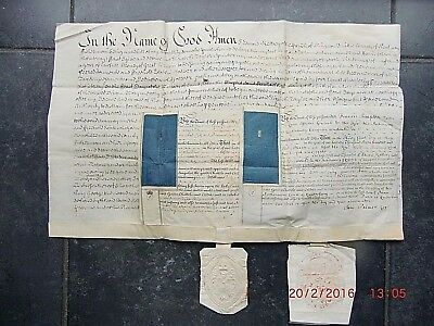 """""""1749"""" WILL & (Double) PROBATE (3 Documents) EDWARD KELSEY of  RINGWOULD. KENT."""