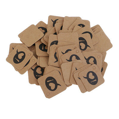 100pcs Kraft Paper Gift Tags Square Label Luggage Wedding Party Favor Cards