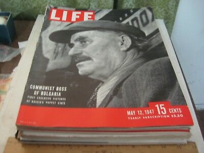 947-8 Life Magazine, May 12, 1947 Issue Communist Boss Of Bulgaria Cover