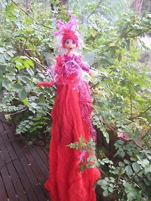 Magical Party Fairy (Red) - Hand made By Conny