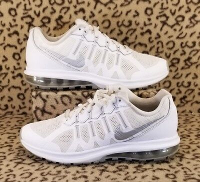 Nike Air Max Dynasty Youth Kids Athletic Shoes Size 6.5Y White Silver 820268 100
