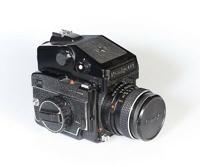 Mamiya M645 1000s camera with Meter prism and 80mm lens