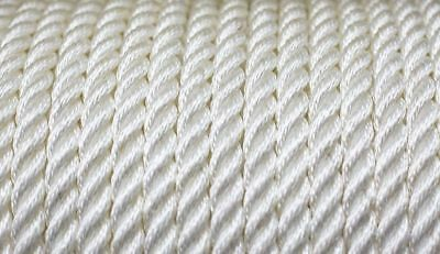 Nylon 3 Strand Twisted Rope 16mm x 25 metres White 4850KG