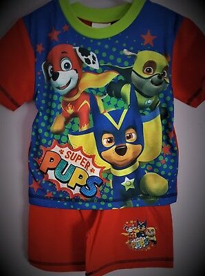 Paw Patrol Pyjamas Blue Pjs Boys Pj/'s Chase Marshall Rubble Pyjama Set T2TC359