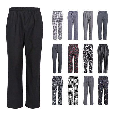 Unisex Chef Pants Hotel Restaurant Uniform Loose Chef Pants Fit Trousers