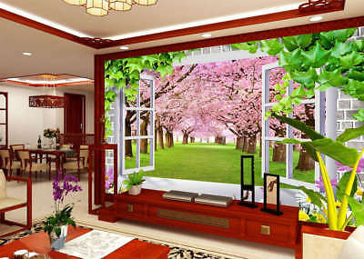 Cherry Blossoms Forest 3D Full Wall Mural Photo Wallpaper Print Home Kids Decor