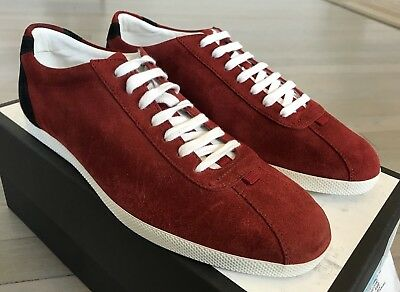 ea1f7f3da 500$ GUCCI RED Suede Sneakers Size US 11.5 Made In Italy - $399.00 ...