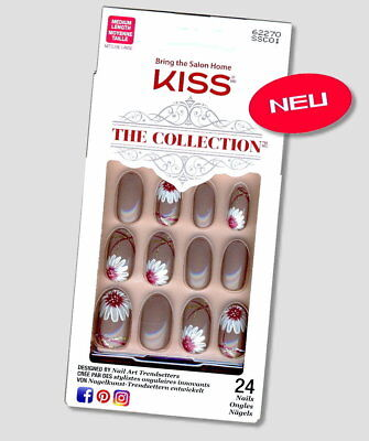 Kiss THE COLLECTION NAILS Design SSC01 Oval Dekor Künstliche Fingernägel Set