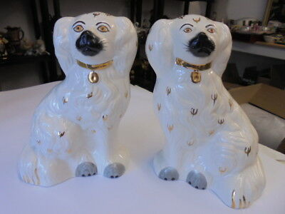 """Vintage Beswick Pair Staffordshire Wally Dogs  7 3/4""""  PERFECT CONDITION"""