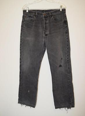 Levis 501 Vtg 1986 Black Jeans Men's 31 x 28 Distressed Faded Button Fly USA