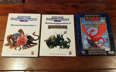 AD&D Monsterkompendium Bundle  1 & 2 + Monster der Reiche TSR