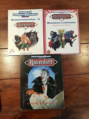 AD&D  Kampagnenset Box Ravenloft + 2 Monsterkompendien Komplett sehr gut