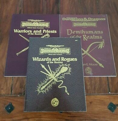 AD&D Forgotten Realms Game Accessory's complete 3 brown books TSR