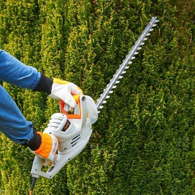 550W Lightweight Electric Hedge Trimmer Soft Grip Handle 10M Cable Blade Cover