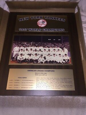 1927 New York Yankees WORLD SERIES CHAMPIONS plaque Babe Ruth Lou Gehrig