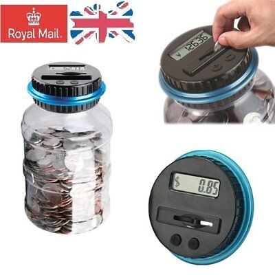 Automatic Coin Counting Money Box Piggy Bank Counter LCD Display Kid Gift GBP