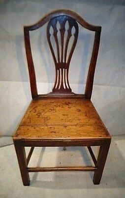 ANTIQUE GEORGE III ELM VERNACULAR CHAIR c1790-1810 GEORGIAN COUNTRY CHAIR