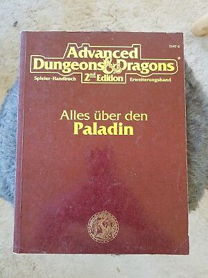 AD&D 2nd Edition ALLES ÜBER DEN PALADIN TSR Advanced Dungeons & Dragons